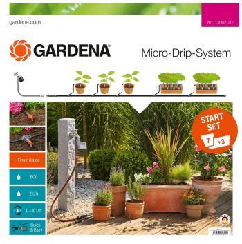 Набор для полива Gardena Комплект микрокапельного полива базовый с таймером 13002-20 цена