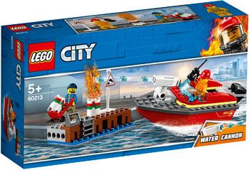 Конструктор Lego Пожар в порту 60213 City Fire цена