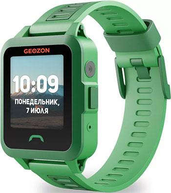 Детские часы с GPS поиском Geozon GEO ACTIVE green умные часы детские geozon aqua синий