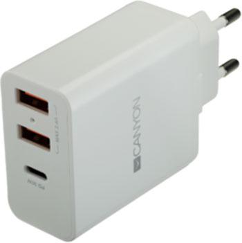Сетевое зарядное устройство Canyon CNE-CHA 08 W Белый