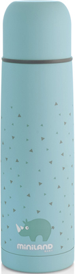 цена на Детский термос для жидкостей Miniland Silky Thermos 500 мл голубой 89218