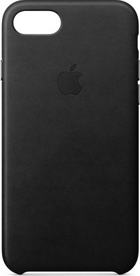 Чехол (клип-кейс) Apple Leather Case для iPhone 8/7 цвет (Black) черный MQH92ZM/A недорого