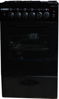 Комбинированная плита Reex CGE-540 ecBk черный газовая плита reex cge 540 ecbk