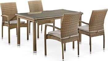 Комплект мебели Афина T256B/Y379B-W65 Light Brown