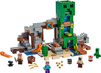 Конструктор Lego Minecraft Шахта крипера 21155 цены онлайн