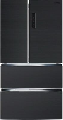 цена Многокамерный холодильник Ginzzu NFK-470 темно-серый онлайн в 2017 году