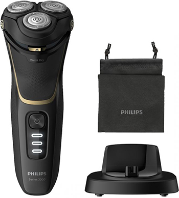 Электробритва Philips S3333/54 черный золотой цена