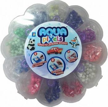 Набор для творчества 1 Toy Aqua pixels коробка-цветок 16*16*3 см Т12358