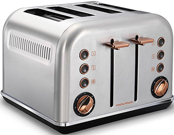 Тостер Morphy Richards 4 slices Accents Rose Gold and Brushed фото