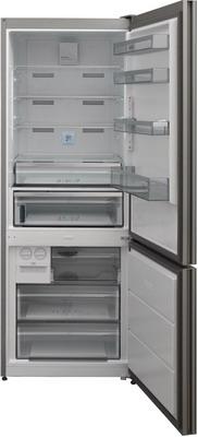 Двухкамерный холодильник Jacky`s JR FV357EN белое стекло