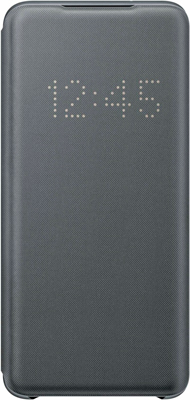 Чехол (клип-кейс) Samsung S20 (G980) LED-View gray EF-NG980PJEGRU аксессуар чехол samsung galaxy note 8 led view cover gold ef nn950pfegru
