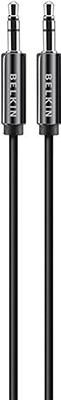 Фото - Кабель Belkin Jack 3.5 папа/Jack 3.5 папа 1 8м черный (AV10104bt1.8M) кабель питания для ноутбуков аудио видео техники gembird pc 184 2 1 8м 1 8м