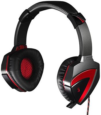 Аудио гарнитура игровая проводная A4Tech Bloody G501 черный игровая гарнитура a4tech bloody g501 7 1