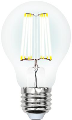 Фото - Лампа светодиодная Uniel LED-A60-10W/WW/E27/CL PLS02WH Форма ''A'' прозрачная (3000K) 002625 лампочка uniel led a60 10w ww e27 cl pls02wh sky