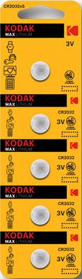 Батарейка KODAK CR2032-5BL 30411579 батарейка perfeo cr2032 5bl lithium cell 5 штук