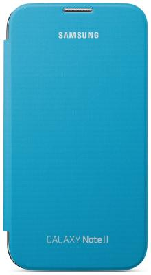 Чехол (флип-кейс) Samsung EFC-1J9FBE синий чехол пластиковый samsung efc 1j9bwegstd protective cover white для gt n7100 galaxy note 2 белый