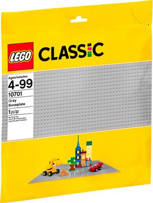 Конструктор Lego Classic Строительная пластина серого цвета 10701 конструктор lego classic строительная пластина зеленого цвета 10700