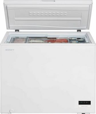 Морозильный ларь Kraft BD(W) 275 BLG с доп стеклом / c LCD дисплеем (белый) цена
