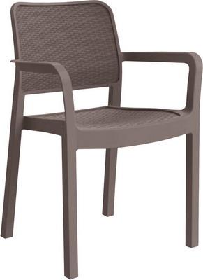 Стул Allibert Samanna коричневый 17199558 комплект мебели allibert corona set with cushion box капучино 17198017