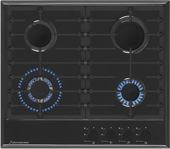 лучшая цена Встраиваемая газовая варочная панель Schaub Lorenz SLK GS 6520 черный