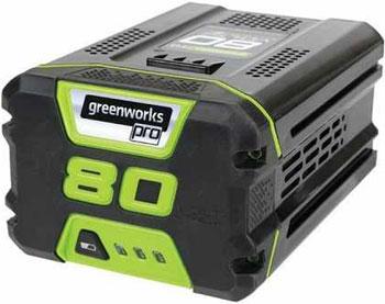 Литий-ионная аккумуляторная батарея Greenworks 80 V Digi-Pro Greenworks G 80 B2 2901207 аккумуляторный кусторез greenworks 80 v digi pro gd 80 ht без аккумулятора и зарядного устройства 2200607
