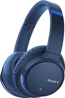 Накладные наушники Sony WH-CH 700 NL.E noise canc синий недорого