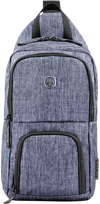 Рюкзак с одним плечевым ремнем Wenger синий полиэстер 19х12х33 см 8 л 605031 рюкзак городской wenger 26 л серый серебристый 34х16х48см