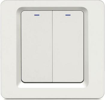 Фото - Wi-Fi выключатель двухканальный Hiper IoT Switch B02 белый (HDY-SB02) умный wi fi модуль выключатель hiper iot switch m02 белый hdy sm02