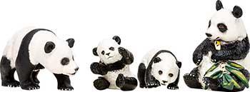 Набор фигурок животных Masai Mara MM201-004 серии ''Мир диких животных'': Семья панд
