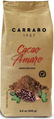 Какао Carraro Amaro чистое горькое без сахара 0 25кг