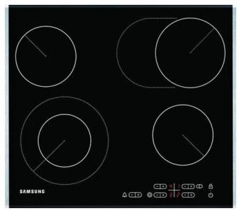 Встраиваемая электрическая варочная панель Samsung C 61 R1CDMST/BWT фото