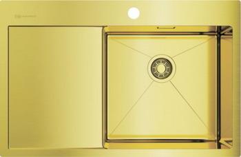 Кухонная мойка Omoikiri AKISAME 78-LG-R светлое золото (4973086) мойка кухонная omoikiri akisame 78 lg r 780 510 светлое золото 4973086