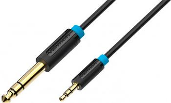 Кабель Vention аудио Jack 6 5 mm M/ 3 5 M 1 5м кабель соединительный 1 5м vention 3 5 jack m 3 5 jack m угловой коннектор p360ac b150 t