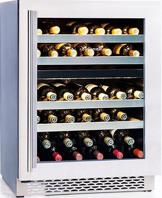 Встраиваемый винный шкаф Cavanova CV 046 DT черный серебристая дверца cavanova cv 012 2т