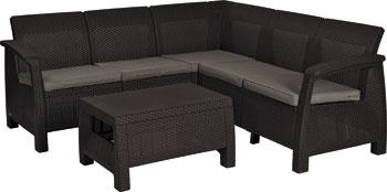 Комплект мебели Allibert Corfu Relax set коричневый комплект мебели allibert corona set with cushion box капучино 17198017