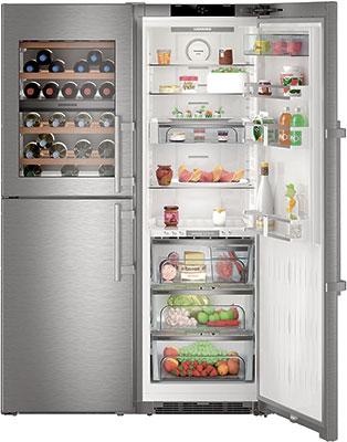 лучшая цена Холодильник Side by Side Liebherr SBSes 8486-21 (SWTNes 4265-21 + SKBes 4360-20)