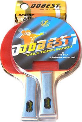 Набор для игры DoBest BR 20 1 звезда (2 ракетки + 3 мяча) цена