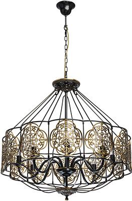 Люстра подвесная CHIARO Франческа 109010208 8*40 W Е14 220 V подвесной светильник vitaluce 8 х е14 40 вт e14 40 вт