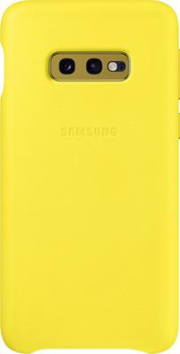 Чехол (клип-кейс) Samsung S 10 e (G 970) LeatherCover yellow EF-VG 970 LYEGRU клип кейс uniq samsung galaxy s10e black