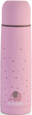 цена на Детский термос для жидкостей Miniland Silky Thermos 500 мл розовый 89219