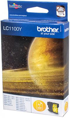 Картридж Brother LC 1100 Y желтый