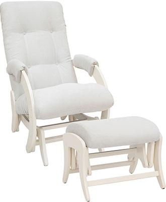 Комплект мебели Milli Smile Дуб шампань ткань Verona Light Grey кресло и пуф 4627159508421