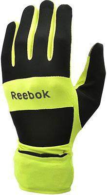 цена Всепогодные перчатки для бега Reebok размер S RRGL-10132YL онлайн в 2017 году