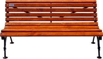 Скамейка Хоббика Авен без подлокотников 1.8м ангарская сосна цвет рябина 6813