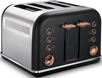 Тостер Morphy Richards 4 slices Accents Rose Gold Black 242104EE фото
