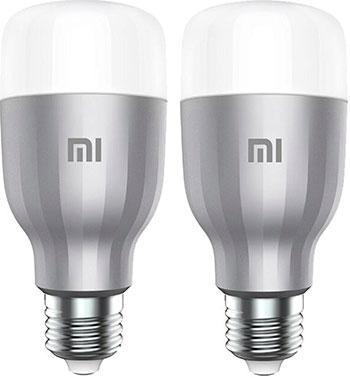 Фото - Светодиодная лампа Xiaomi Mi LED Smart Bulb (RGB упаковка - 2 шт.) лампочка xiaomi mi led smart bulb 2 pack mjdp02yl e27 10вт