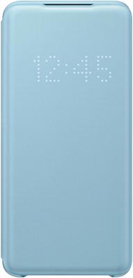 Чехол (клип-кейс) Samsung S20 (G980) LED-View l.blue EF-NG980PLEGRU аксессуар чехол samsung galaxy note 8 led view cover gold ef nn950pfegru