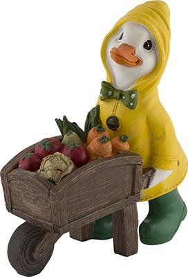 Фигурка садовая Park Утка с тачкой овощей 169306