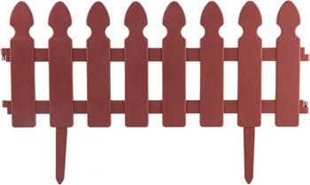 Забор Park Штакетник декоративный L=2м H=21см (4шт по 50см и 8 ножек) терракотовый 999143