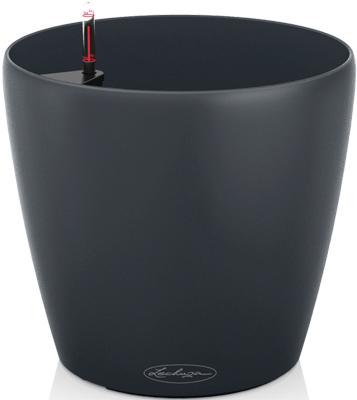 Настольное кашпо с автополивом Lechuza CLASSICO Color 28 с субстратом в комплекте пластик серое Д27 5 В26 см 9л 13204 настольное кашпо с автополивом lechuza classico 28 ls с субстратом в комплекте пластик черное д27 5 в26 см 7 л 16049